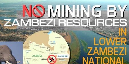 lower zambezi national park mining