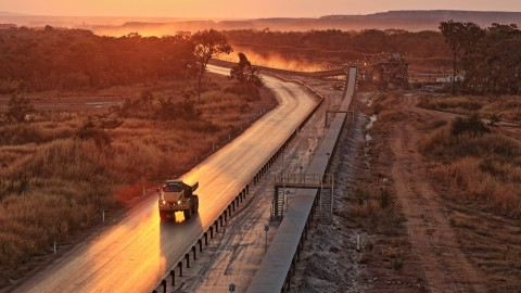 Sunset at the Lumwana copper mine in Zambia. (Photo by Raul Cortijo)