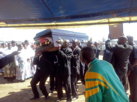 Thousands have gathered at Chawama Primary School grounds in Lusaka to bid farewell to late Keegan Mumba