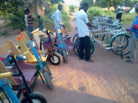 10 wheel chairs and 16 bicycles donated by Malole Constituency member of parliament in Mungwi District