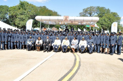 100 ZAF officer cadets graduates