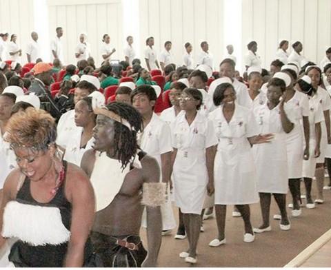 170 nurses today graduated from the Lusaka Schools of Nursing.