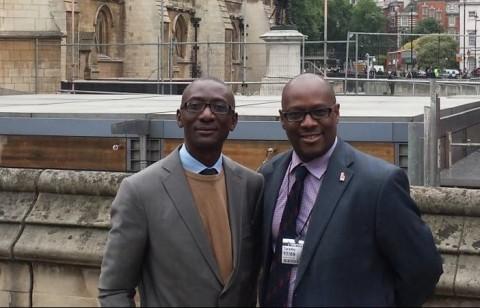 Chipimo with Mr. Pascal Nsokolo, NAREP International Coordinator