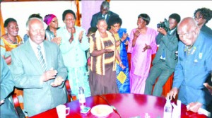 Ex-State House workers toast KK's 90th