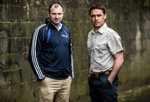 Former footballer of the year and Armagh legend Steven McDonnell, who is the GPA ambassador on the Alan Kerins Project Discovery Programme trip to Zambia on May 29, and Programme director and former Galway star Alan Kerins, right. Drumcondra, Dublin. Picture credit: Ramsey Cardy / SPORTSFILE