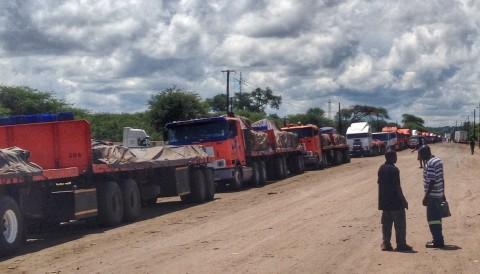 Kazungula border truck line