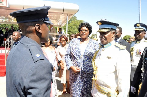 Late former President Frederick Chiluba's son, Frederick Jr was among the 100 officer cadets who graduated from the Zambia air Force (ZAF) Livingstone base May 9th
