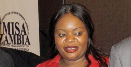 MISA Zambia chairperson Hellen Mwale