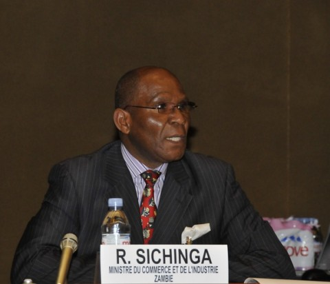 Minister of Commerce, Trade and Industry Robert Sichinga