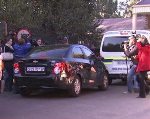 Oscar Pistorius arrives at psychiatric hospital