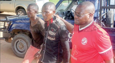 Emmanuel Katongo Junior and his younger brother Ongani, who last weekend allegedly brutally murdered their biological mother and stabbed their father have been officially charged with murder.