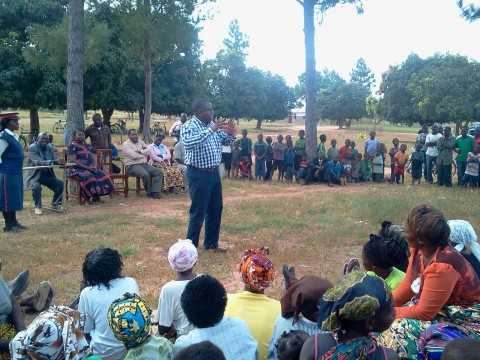 The MP explaining what the PF government is doing in Malole Constituency