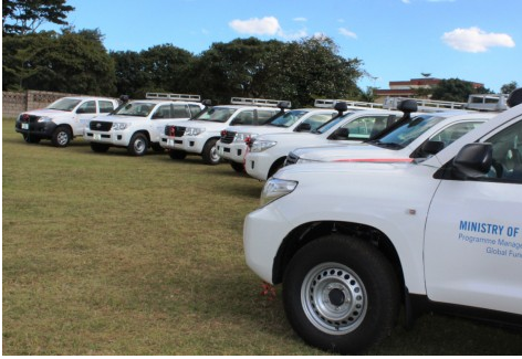 UNDP Hands Over Seven Support Vehicles to Zambia's Ministry of Health