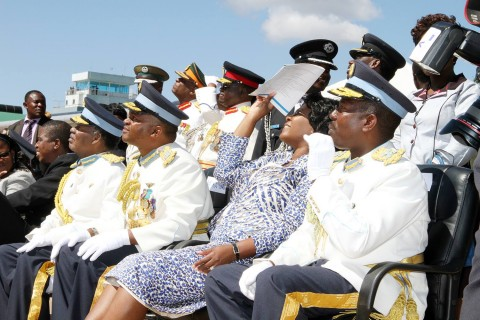 ZAF officer cadets graduation fly by