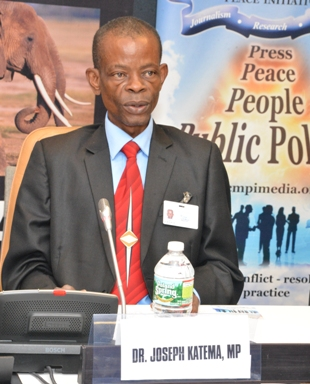 Zambia's Minister of Information and Broadcasting Services, Dr. Joseph Katema