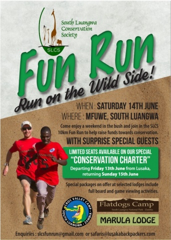 south luangwa conservation society FUN RUN - Jun 14th