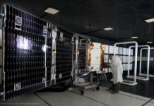An ORBCOMM OG-2 satellite undergoes testing prior to launch. Credit- Sierra Nevada Corp