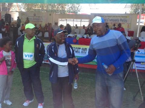 MMD Die Hard youth Coordinator Bowman Lusambo at Inter Company relay