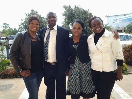 Picture Shows Under seventeen assistant Coach, Kape Saili, Power Dynamos coach,Tenant Chilumba,Green Buffaloes(women) trainer,Beauty Mwamba Mwila and Amanda Queens coach Florence Mwila.
