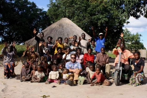 A final group portrait of the friends Jordan made in his two years as a Peace Corps Volunteer at Makiya Village in Zambia / Submitted
