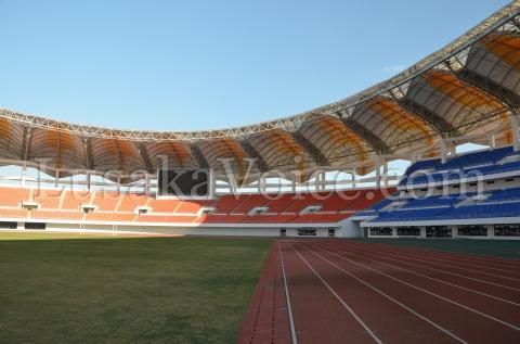 Trackside inside the stadium