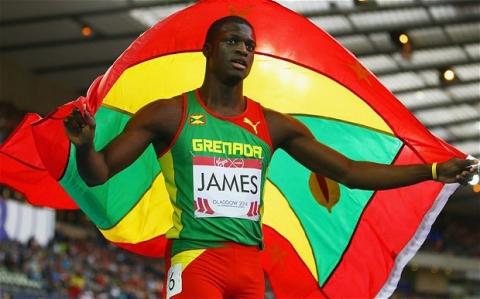 Grenada's Kirani James smashes 400m record