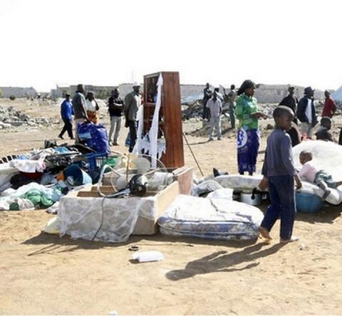 homeless in Lusaka