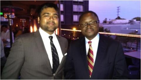 Krishna Bhakta and Ambassador Palan Mulonda