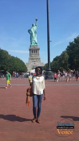 Zila Milupi -At the Statue of Liberty