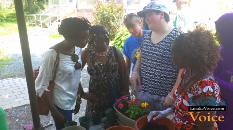 Zila Milupi - Learning about gardening at Lifestyles for the Disabled