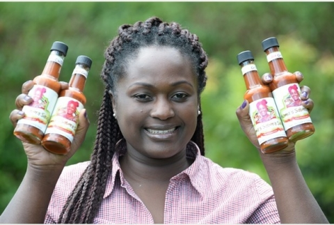 SINGLE mum Dasilo Mweene is proud to be selling a taste of her homeland after setting up own business in her kitchen.