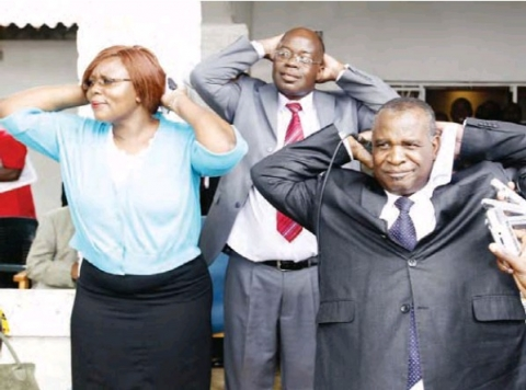 Dora Siliya, Former MMD Malambo MP, Maxwell Mwale and former Mulobezi MP, Hastings Sililo