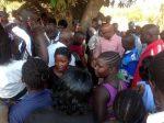 Dr Nevers Mumba arriving.  Mangango