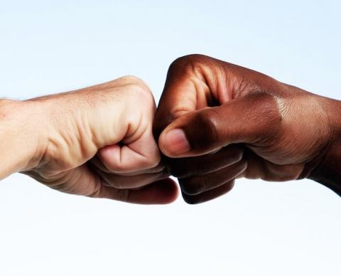 Fist bumps vs handshake