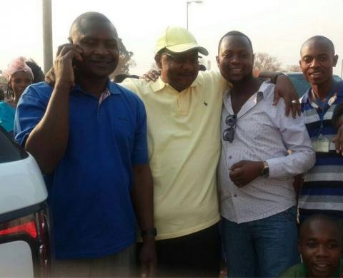 Geoffrey Bwalya Mwamba with Father Bwalya in MPIKA