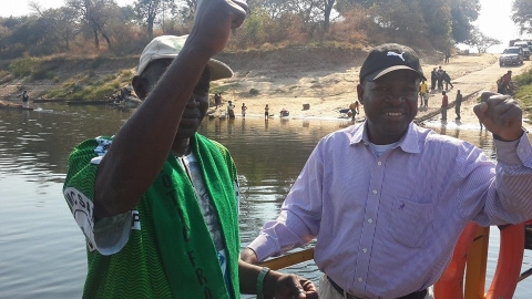Kabimba busy day of campaigning in Zambezi