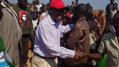 Mr Kabimba At the Ikubi lya Loongo ceremony in Senior Chief Shakumbila's area in Shibuyunji district