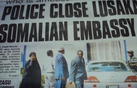 Somali embassy in the Zambian capital Lusaka