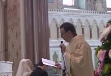 Singing priest's Hallelujah wows wedding guests