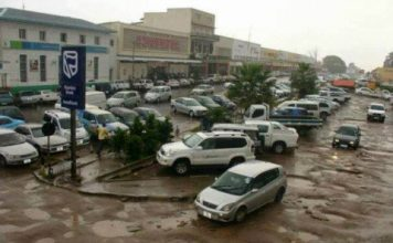 Chingola town with pot holes