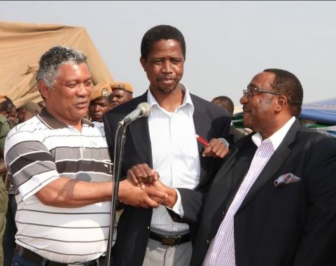 Lubinda, Edgar Lungu , GBM in SOlwezi