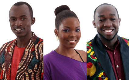 Macky2 from Zambia, Mira from Mozambique and Mr 265 from Malawi. PHOTO| COURTESY