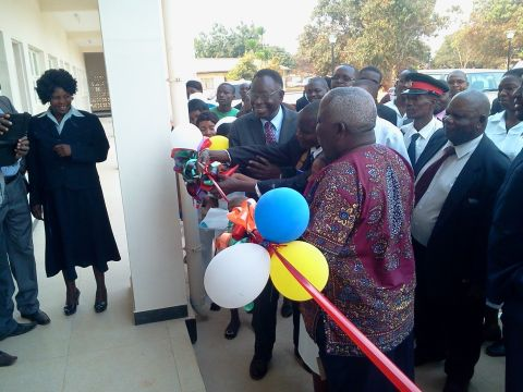 Official hand over of Kasama General Hospital Nurses Flats By Minister of Health Dr. Joseph Kasonde