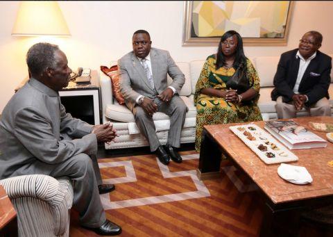 President Sata at the New York Palace Hotel