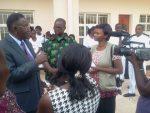 Radio Mano and ZANIS Ksm, interviewing Minister of Health Dr Joseph Kasonde shortly after commissioning Kasama General Hospital Nurses Flats