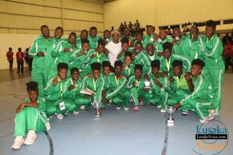 The zambian teams both boys and girls won a silver medal after losing to their mozambican counter parts during the Final of IHF Zambia 2014 Zone 6 Trophy finals that took place at OYDC on Friday , evening September 5th, 2014 - Jean Mandela