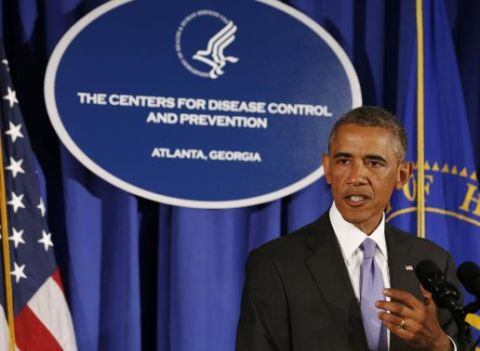 U.S. President Barack Obama speaks at the Centers for Disease Control and Prevention in Atlanta