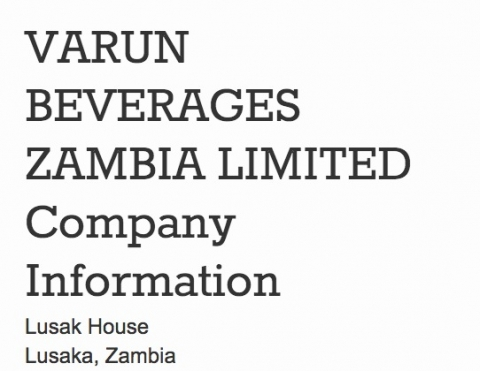 Varun Food and Beverages Zambia Limited
