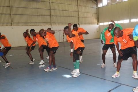 Zambia 22 vs South Africa 14 (Handball Zone 6), Zambia players celebration after the win Jean MaNDELA