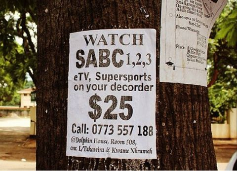 illegal South African DStv package